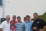 Einkehr im Sunny Mountain: <br /> Martin Sieberer, Rosa Ladner, Christoph Kössler - Kössler Brände, Gastkoch Tim Mälzer, Robert Jäger, HelmutLadner(Bürgermeister Kappl), Wolfgang Walser (GF Sunny Mountain Restaurant)